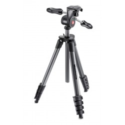 MANFROTTO Advanced, Kit Trépied Compact + Rotule 3D, alu, noir