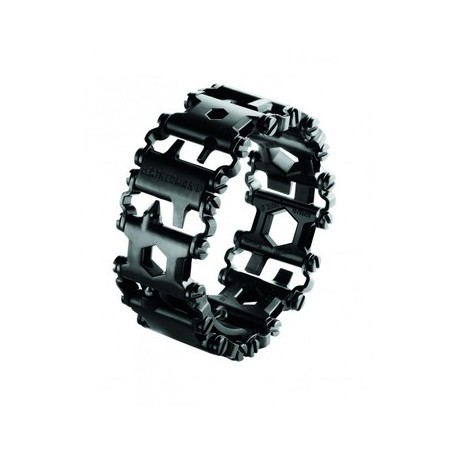 LEATHERMAN BRACELT TREAD BLACK EN ACIER INOXYDABLE